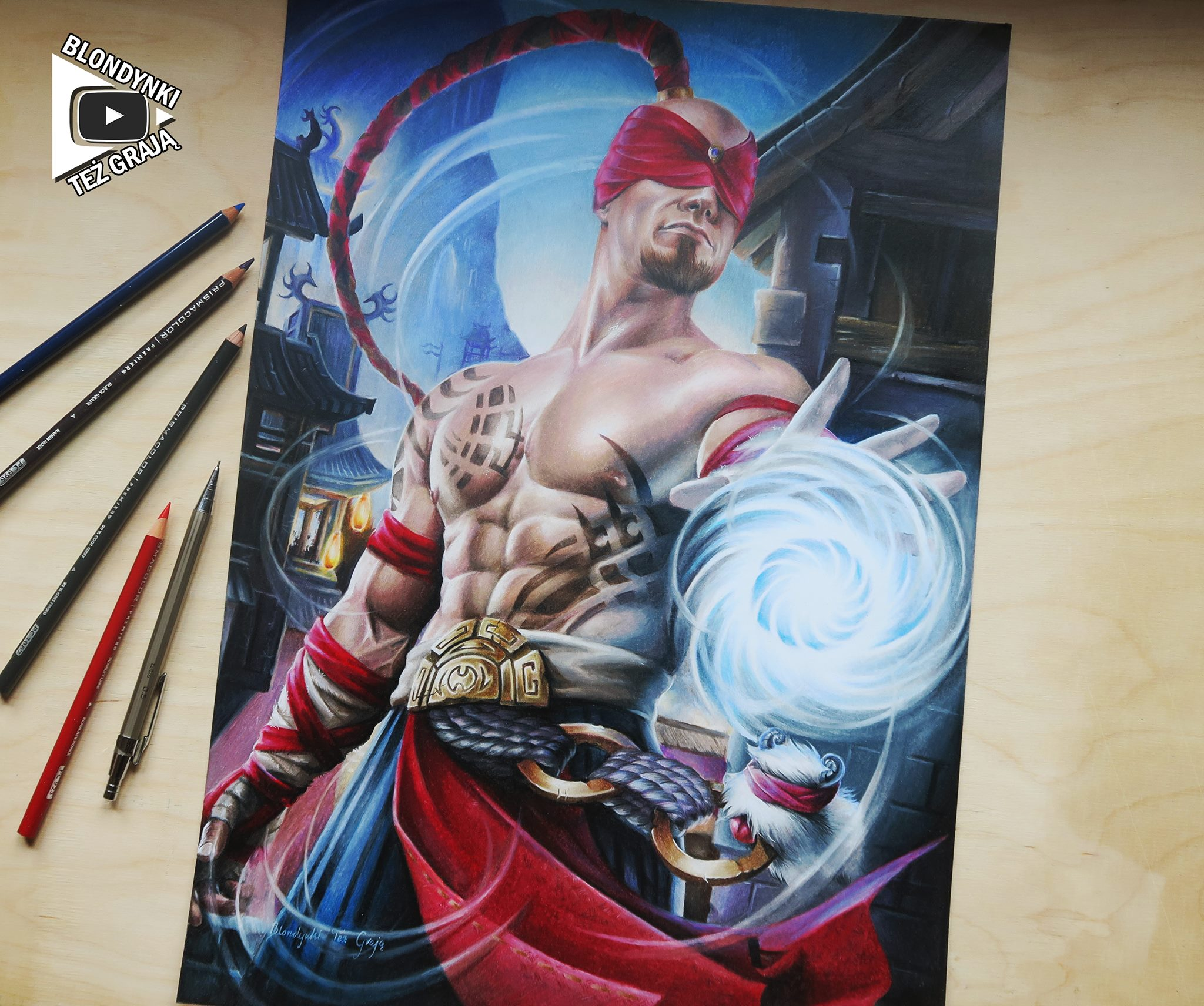 Lee Sin drawing by Blondynki Też Grają - League of Legends art