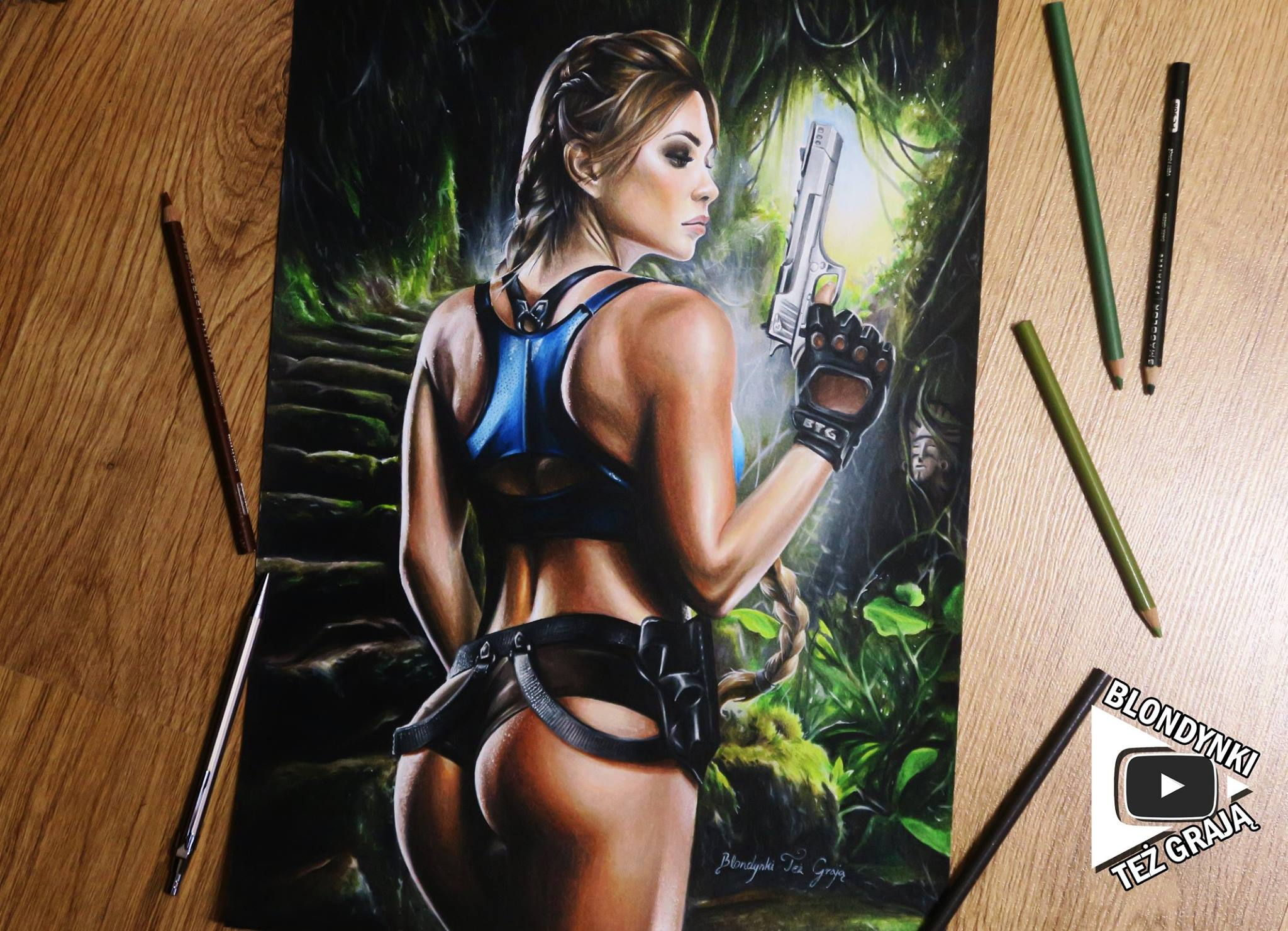 Lara Croft drawing by Blondynki Też Grają - Tomb Raider art