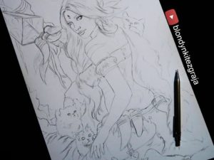 Nidalee drawing by Blondynki Też Grają - League of Legends art