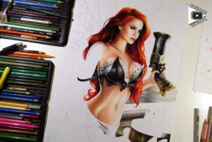 Miss Fortune drawing by Blondynki Też Grają - League of Legends art