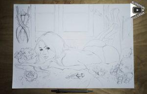 Katarina drawing by Blondynki Też Graja - League of Legends art