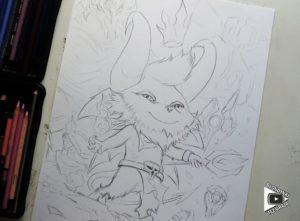 Teemo Satan drawing by Blondynki Też Grają - League of Legends art