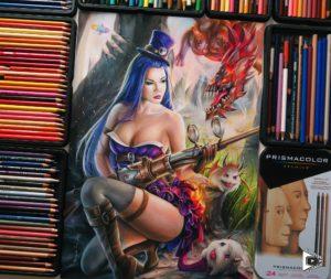 Caitlyn drawing by Blondynki Też Grają - League of Legends art