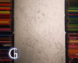 Tristana Dragon Trainer sketch by Blondynki Też Grają - League of Legends art