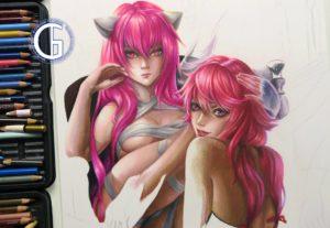 Lucy x Yuno WIP by Blondynki Też Grają - Anime art