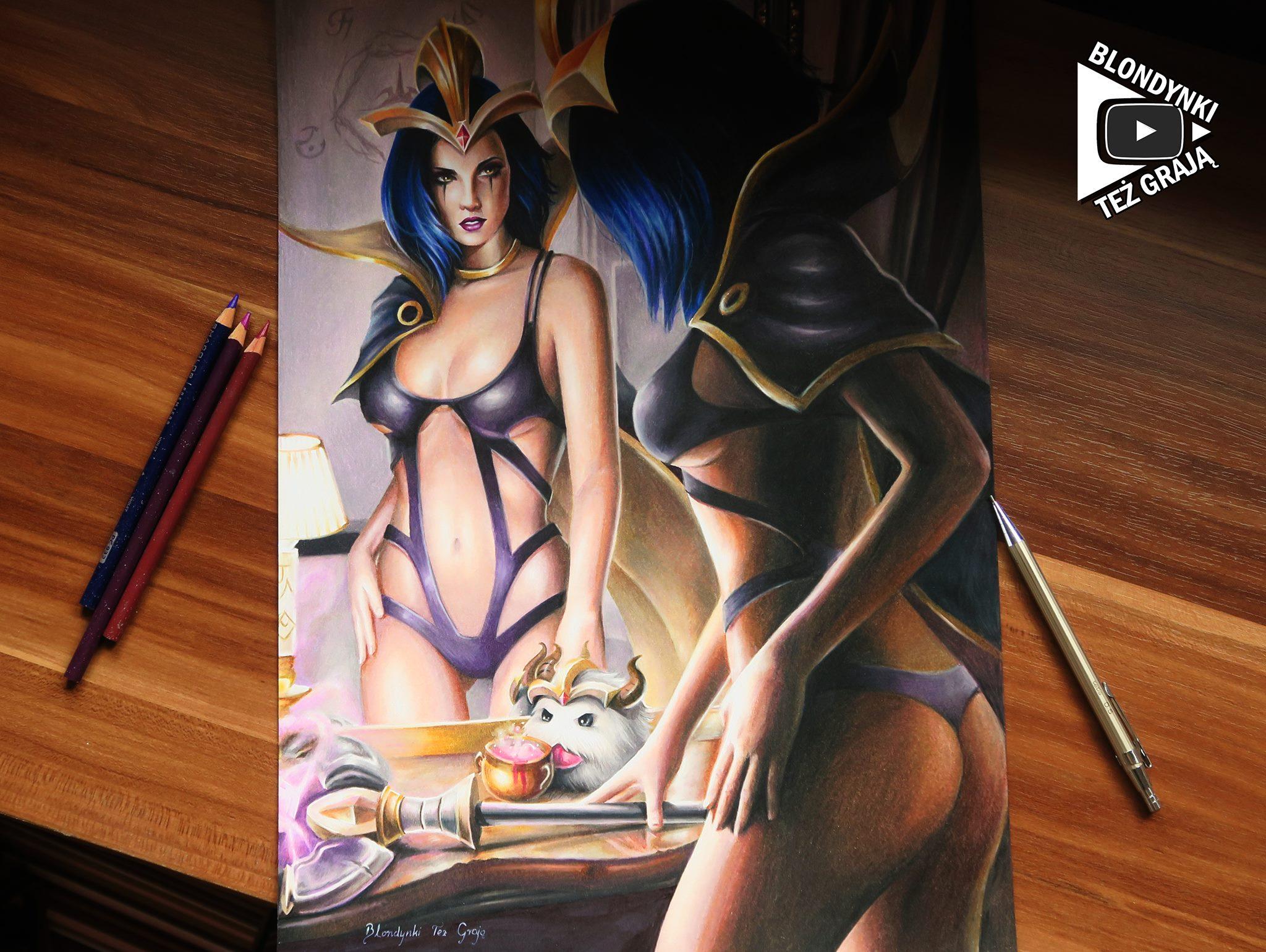 Le Blanc drawing by Blondynki Też Grają - League of Legends art