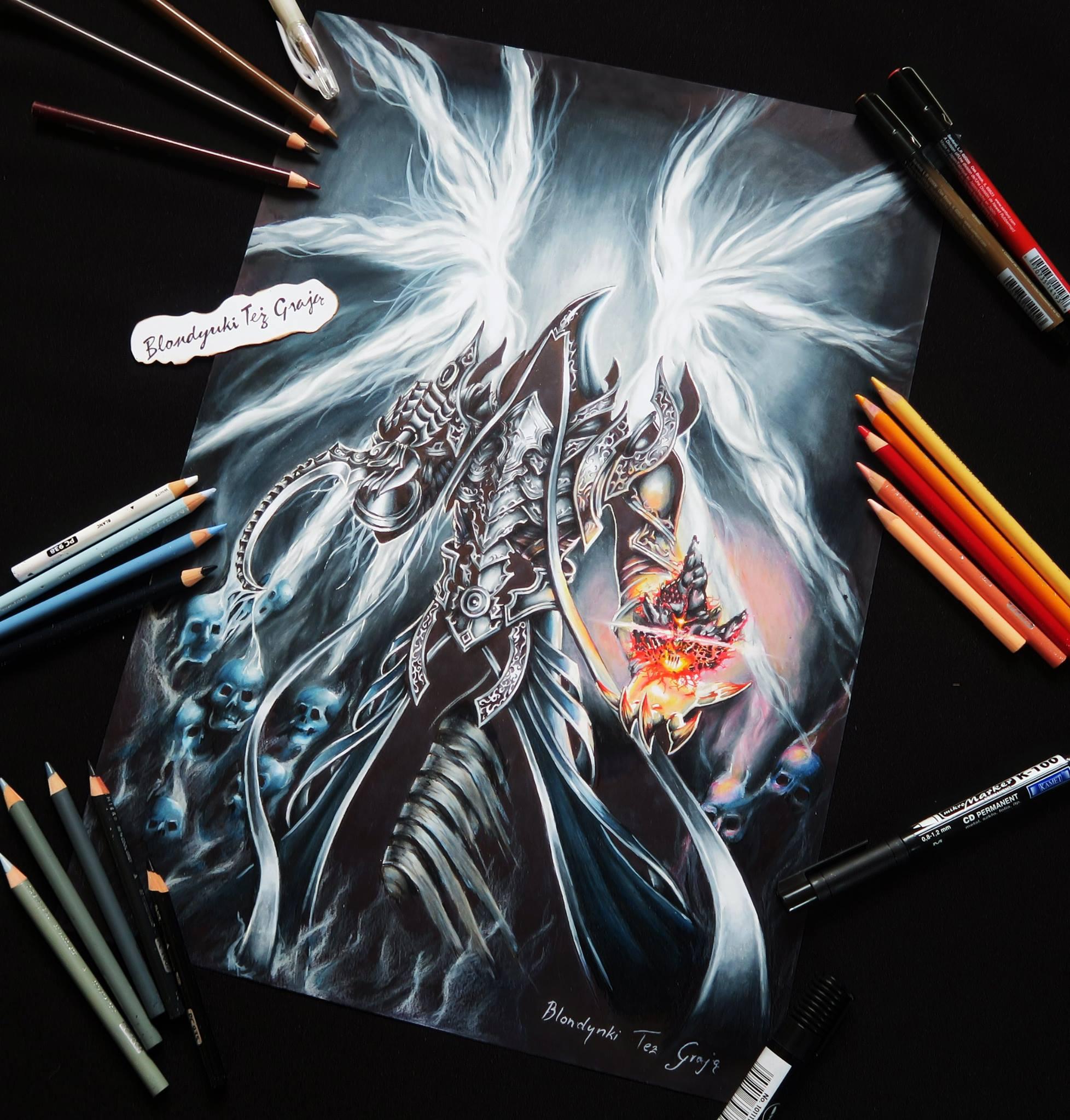 Malthael drawing by Blondynki Też Grają - Diablo art