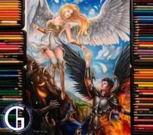 Angels drawing by Blondynki Też Grają