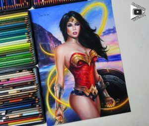 Wonder Woman drawing by Blondynki Też Grają - Comic art