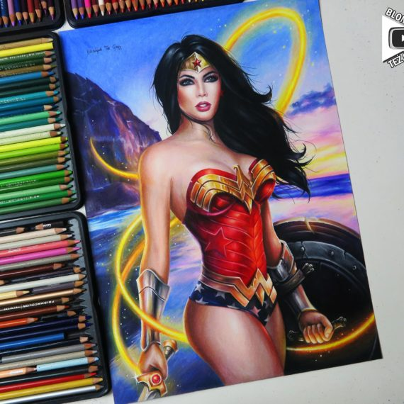 Wonder Woman drawing by Blondynki Też Grają - Comic art