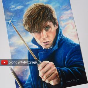 Newt Scamander art by Blondynki Też Grają - Fantastic Beasts and Where to Find Them art