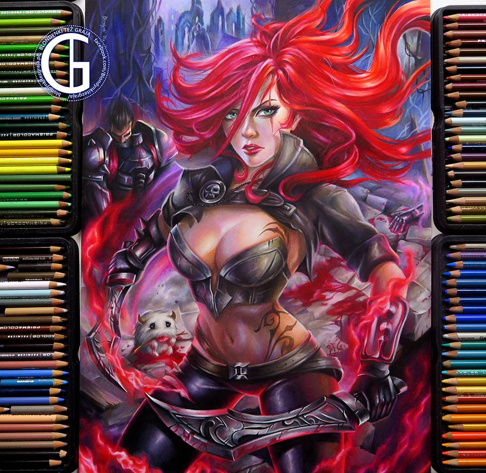 Katarina drawing League of Legends