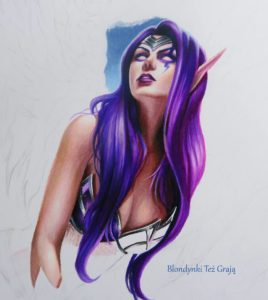 Morgana drawing by Blondynki Też Grają - League of Legends art