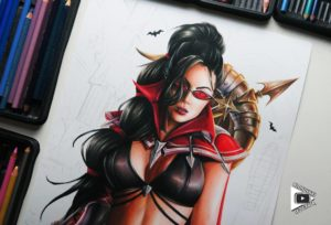 Vayne drawing by Blondynki Też Grają - League of Legends art